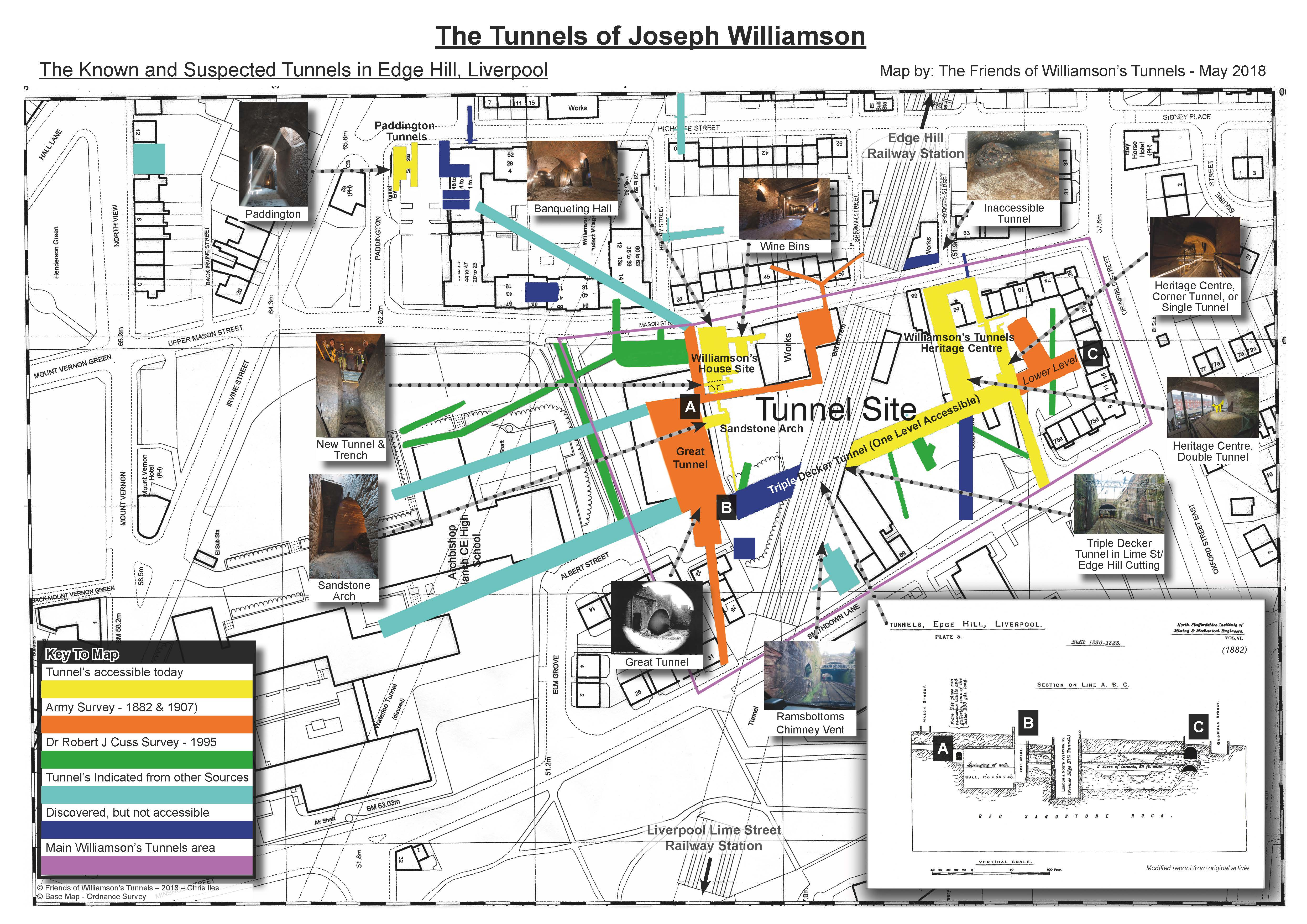 Map of the Williamson\'s Tunnels Updated… | Friends of Williamson\'s ...